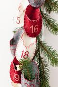 Advent calendar hanging from wall Stock Photos