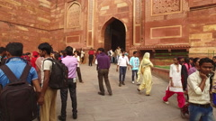 Red Fort of Agra - India - a UNESCO world heritage site - stock footage