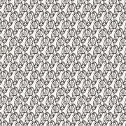 Seamless pattern of candy wrappers, tails from the wrapper look like rabbit ears - stock illustration