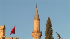 Selimiye Mosque, former Gothic cathedral, north Nicosia - zoom out Stock Footage