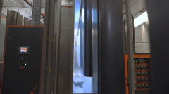 Automatic line of powder coating of metal products - stock footage