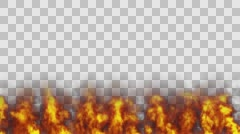Fire Flames. Alpha Channel Stock Footage