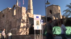 United Nations Development Program restoration, Nicosia old town Stock Footage