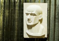 Plaster image of a man face Stock Photos