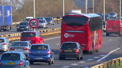 Highway, road sign, fixed speed camera in France - timelapse Stock Footage