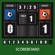 Sports score board with timer Stock Illustration