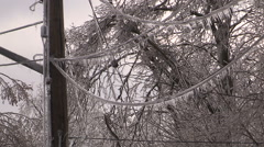 Severe ice freezing rain and wind storm in Ontario 2016 Stock Footage