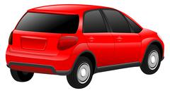 Stock Illustration of Vector red car