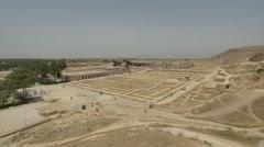 Persepolis ruins panorama Stock Footage