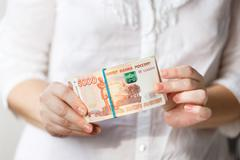Half a million rubles - stock photo