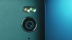 Closeup of Smartphone Camera Module - stock footage