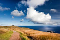 Easter island, polynesia Stock Photos