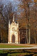 Catholic chapel in forest Stock Photos