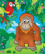Orangutan theme image - eps10 vector illustration. Stock Illustration