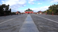 Vermilion Steps Bridge to the Hall of Prayer in Temple of Heaven. Beijing, China Stock Footage