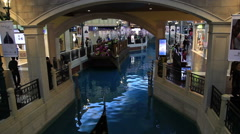 The famous shopping mall, luxury hotel and the largest casino in the world Stock Footage