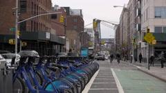 Williamsburg's Wythe Avenue in Brooklyn Stock Footage