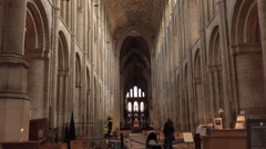 Ely England inside historic Cathedral church 4K Stock Footage