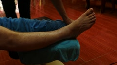 Legs massage in saloon - Thailand - time lapse Stock Footage