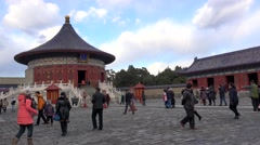 Imperial Vault of Heaven Hall in Temple of Heaven. Beijing, China Stock Footage