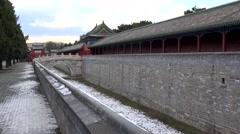 Palace of Abstinence (Fasting Palace)  in the Temple of Heaven park. Beijing Stock Footage