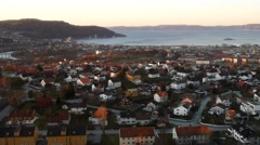 View of Trondheim, Norway Stock Footage