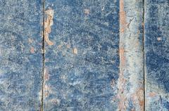 Background from old boards with peeling paint - stock photo