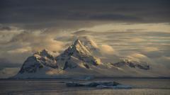Mountain view in Antarctica Stock Photos