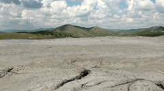 Muddy Volcanoes Reservation in Romania - Buzau - Berca - stock footage