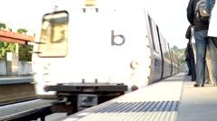 Inbound BART Train Stock Footage