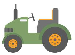 Green agricultural machinery - stock illustration
