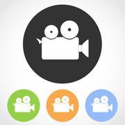 Video camera icon - vector illustration . Stock Illustration
