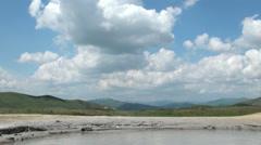 Muddy Volcanoes Reservation in Romania - Buzau - Berca - stock footage