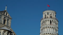 People In Leaning Tower  Pisa, Italy - stock footage