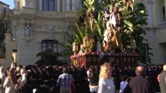 Malaga Holy Week Stock Footage