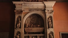 Yard of the abbey Santa Maria de Montserrat in Monistrol de Montserrat, Spain. Stock Footage