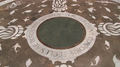 Floor decoration at the Benedictine abbey Santa Maria de Montserrat. Stock Footage