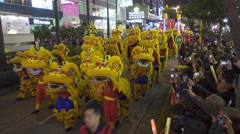 Parade in Hong Kong during the Chinese New Year - stock footage