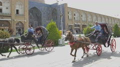 Isfahan Imam Square carriages Stock Footage