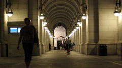 Union Station Entrance Wide Stock Footage