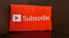 YouTube subscribe button Stock Footage