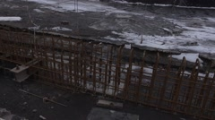New safe shelter. Exclusive footage from the roof of the Chernobyl power plant Stock Footage