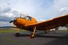 Zlin Z-37 Cmelak – czech agricultural aircraft used mainly as crop duster. Stock Photos