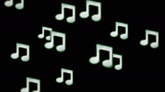 Musical notes. Looping. - stock footage