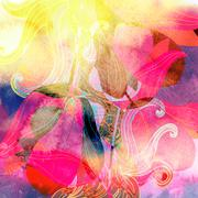 Abstract watercolor background - stock illustration