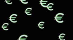 Euro icons. Looping. Stock Footage