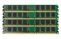 Electronic collection - computer random access memory (RAM) modules - stock photo