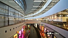People Walking Inside The Terminal Of Vienna International Airport - stock footage