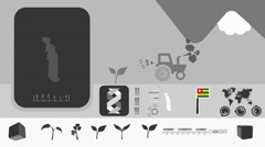Togo - Agriculture - Vector Animation - black Stock Footage