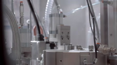 Factory automation equipment in the work - stock footage